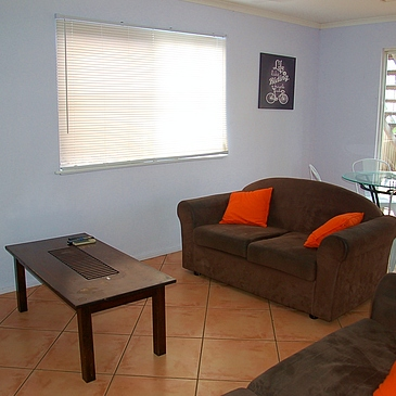 Shared lounge area at The Lumley at Cairns Share house