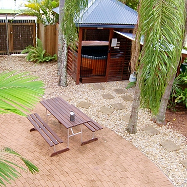 Garden Spa at  The Cottages popular with TAFE international students